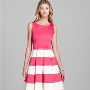 Kate Spade Pink & White Celina Striped Dress